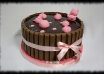 Tarta de chocolate barril cerditos
