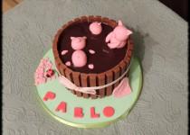 tarta de cerditos en barril para «Pablo»
